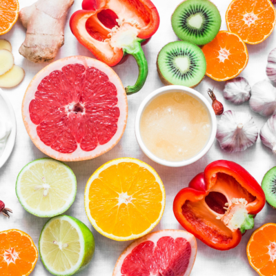 Verschillende soorten groenten en fruit